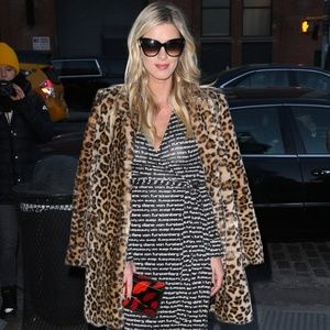 Diane Von Furstenberg Faux Fur Leopard Coat